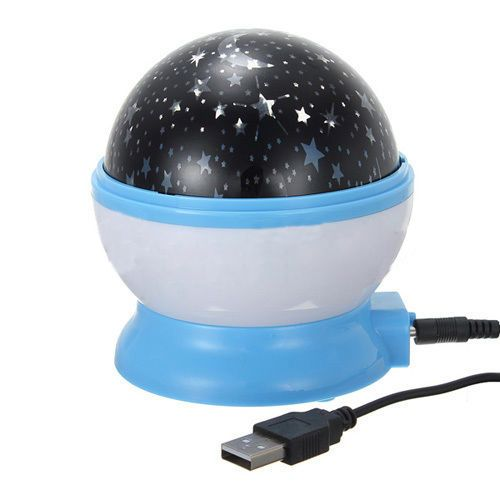 Nuevo hotsale promoción rotación estrellado intermitente romántica sala de Luna luz de la noche de la lámpara del proyector