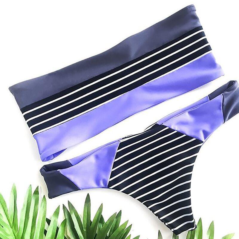 Kmnovo 2019 Nouvelle Bikinis Femmes Sexy maillot de bain Costume épaules dénudées pour femme Maillot de Bain livraison directe ensemble bikini Vêtements De Plage