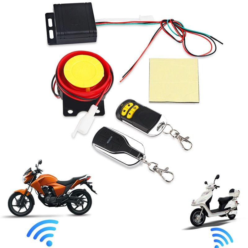 Remote Control Alarm Motorcycle Security System Motorcycle Theft Protection Bike Moto Scooter <font><b>Motor</b></font> Alarm System