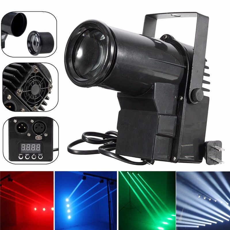 15W DMX512 LED Stage Light Spin Pinspot Light Beam Spotlight Lamp For KTV Party DJ Bar DISCO Professional Stage Lighting Effect