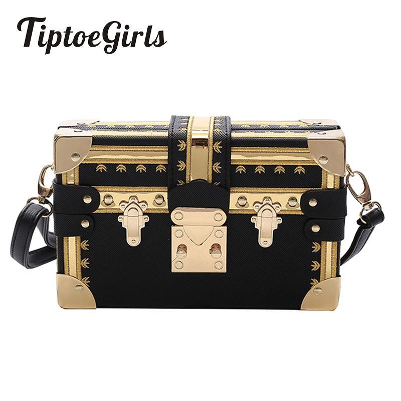 Fashion Box Women Bag Rivets Fashion Women Messenger Bags Small Square Girls Shoulder Bags 2018 New Female Shoulder Packages