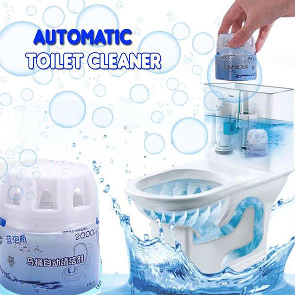 Nettoyants moussants 2019 Autoile nettoyant de toilette automatique chasse d'eau magique aide en bouteille bulle bleue incroyable