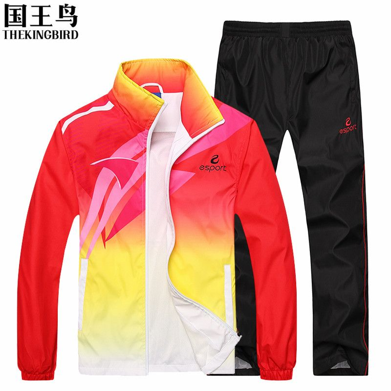 Men's sportswear Suit Long sleeve Breathable wicking sport suit basketball soccer jogging rugby Men's <font><b>Running</b></font> Clothes