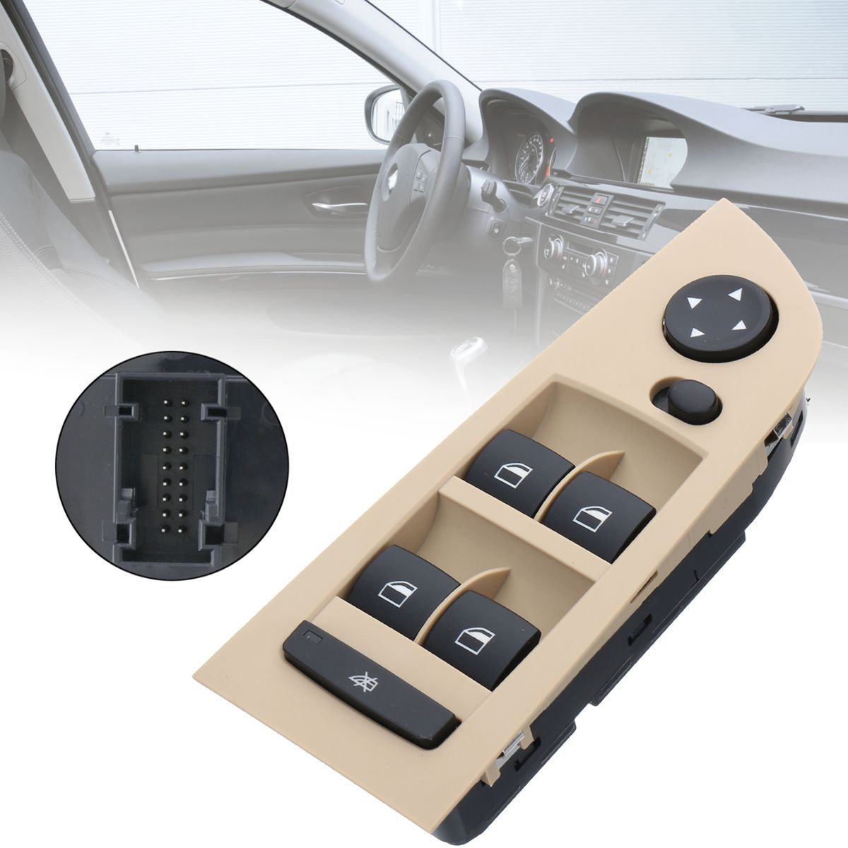 #61319217329 Front Window Mirror Master Control Switch Unit For BMW E90 LCI 318i 320i 325i 335i 330i 2004 2005 2006 2007 2008