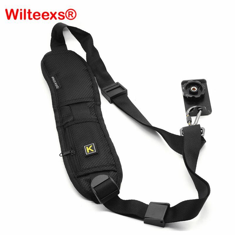 WILTEEXS sac à bandoulière pour appareil photo bandoulière unique noir sangle ceinture éponge Pad pour Canon Nikon Sony appareil photo reflex numérique
