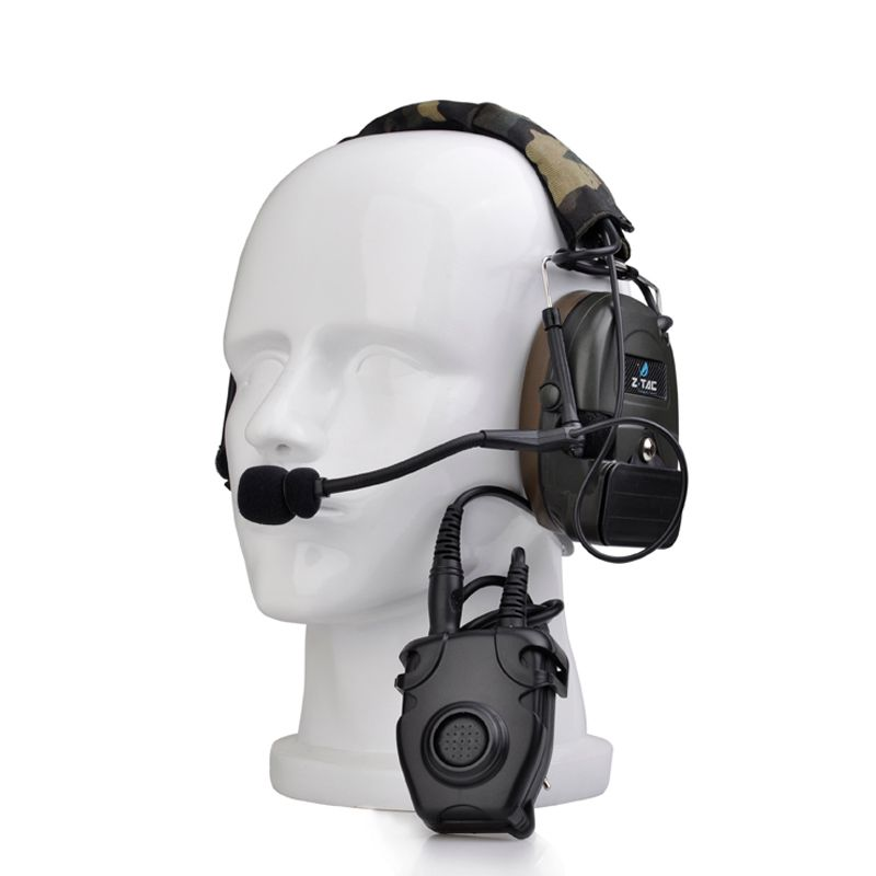 Tactical Comtac Peltor Headset Z054 combat I Tactical noise reduction Earphone with Z112 PTT stand rrb version