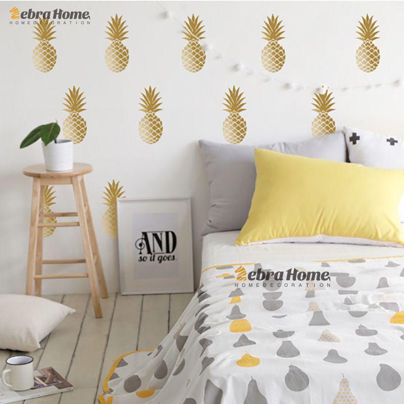 DIY Ananas Ananas Amovible Vinyle Stickers Muraux Pour Salon Bébé Pépinière Chambre Décoration intérieure Murale Papier Peint Pour Chambre D'enfants