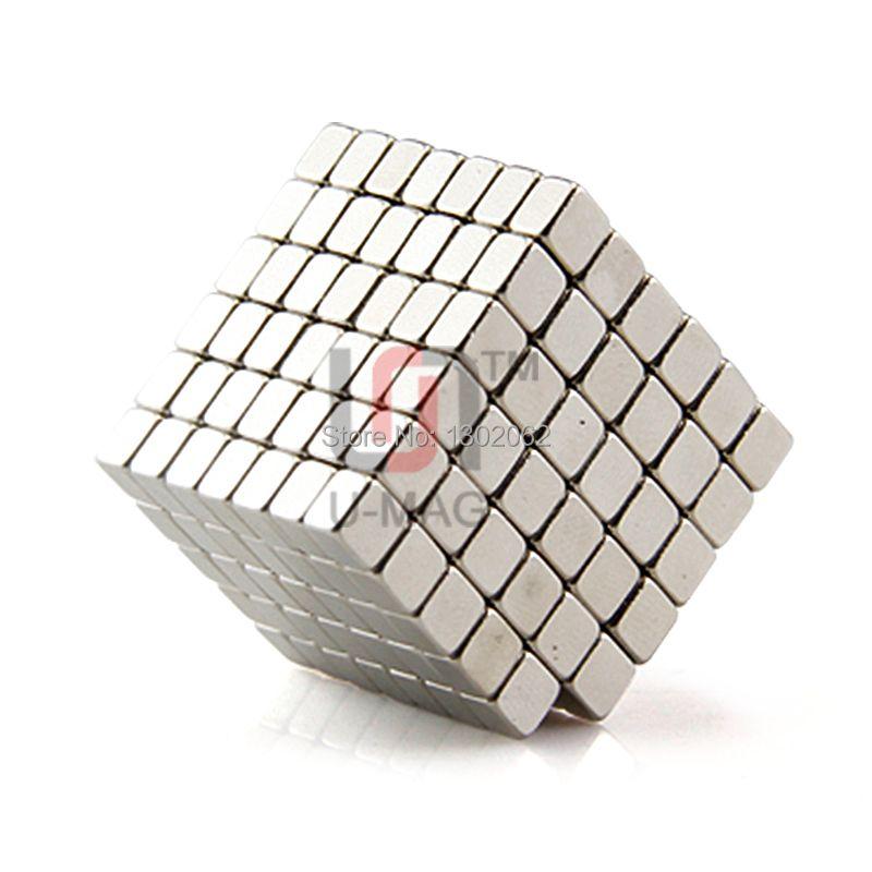 Free shipping wholesale 100pcs Strong mini block 4x4x3mm N50 Rare Earth NdFeB Cuboid neodymium Magnet