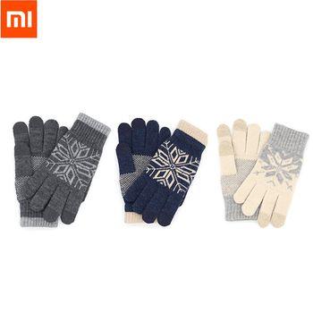 Рождественский подарок Оригинальный Xiaomi палец Экран touch Прихватки для мангала зима теплая шерсть Прихватки для мангала для IPhone Xiaomi сенсорн...