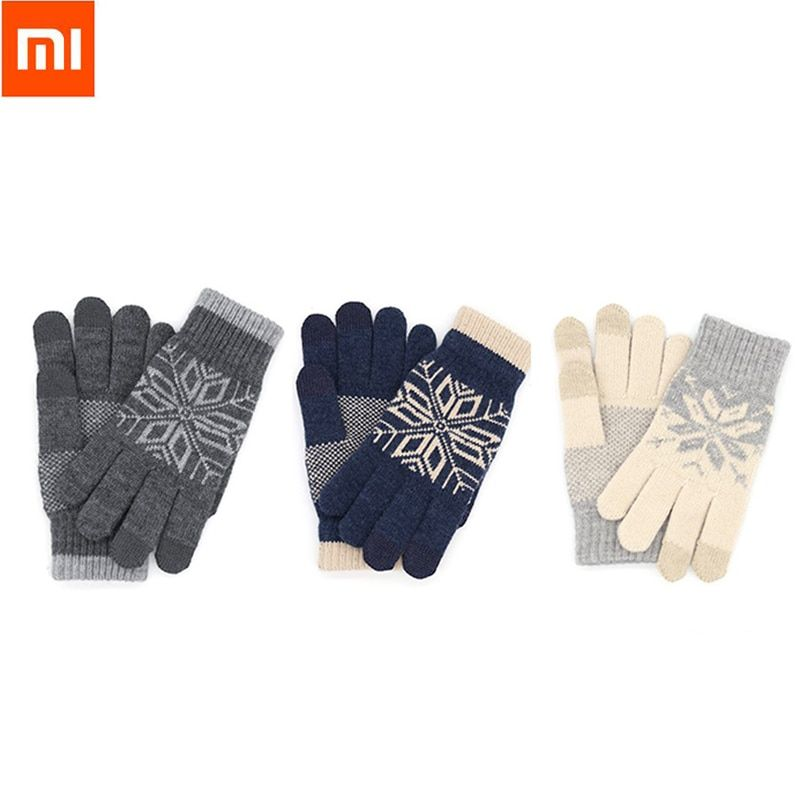Christmas Gift Original Xiaomi Finger Screen Touch Gloves Winter Warm Wool Gloves For iphone Xiaomi Touch Phone Smart Tablet