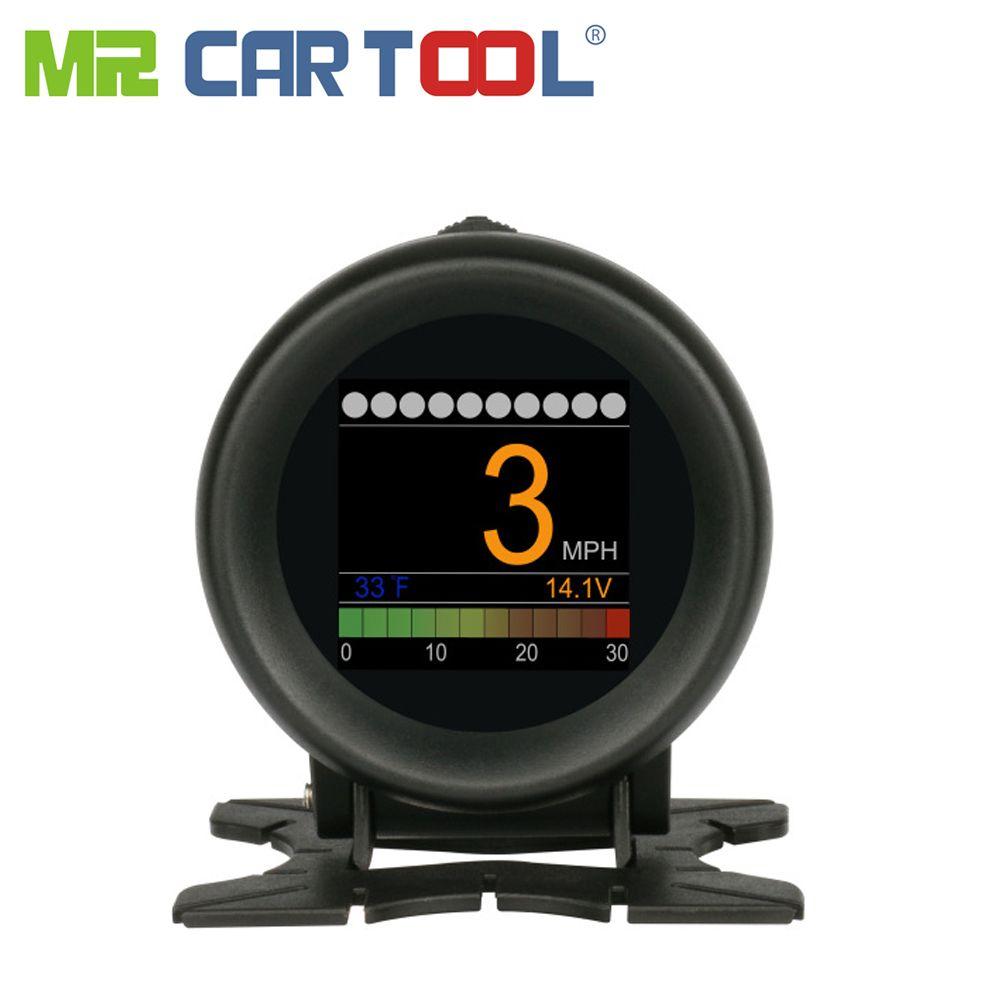 AUTOOL X60 affichage tête haute Hud Obd Ii 2 voiture compteur numérique alarme vitesse huile eau jauge de température Odb2 compteur de vitesse outil de Diagnostic automatique
