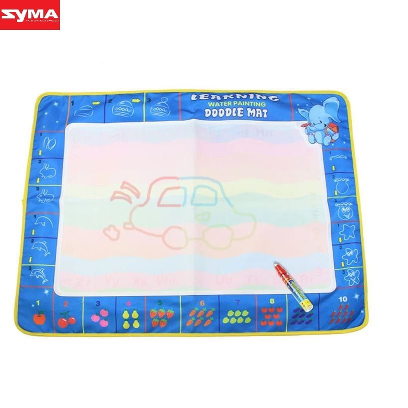 SYMA Drawing toys Drawing Water Pen Painting Magic Doodle  Mat Board Kids Toy cartoon water drawing toys mat dec21