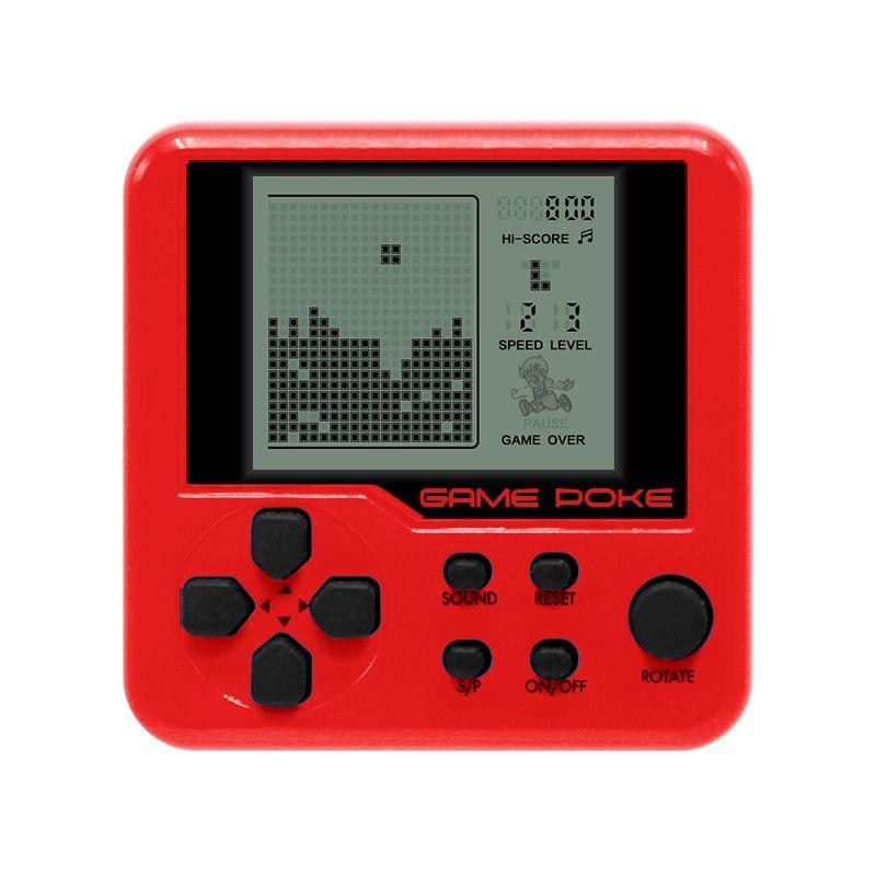 Eingebaute 26 Spiele Mini Tetris Spielkonsole Retro Streichholzschachtel Tetris Konsole Spielkonsole LCD Tragbare Elektronische Lernspielzeug