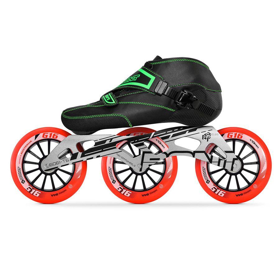 100% Original Bont Enduro 2PT 195mm 2PT Geschwindigkeit Inline Skates Heatmoldable Carbon Faser Boot Rahmen 3*110mm räder Racing Patines