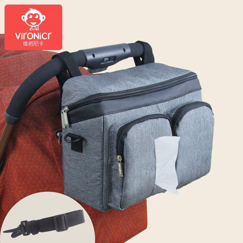 Sac à langer pour bébé sac à langer organisateur de poussette sac de bébé maman voyage suspendu chariot landau Buggy chariot deux bouteilles sac