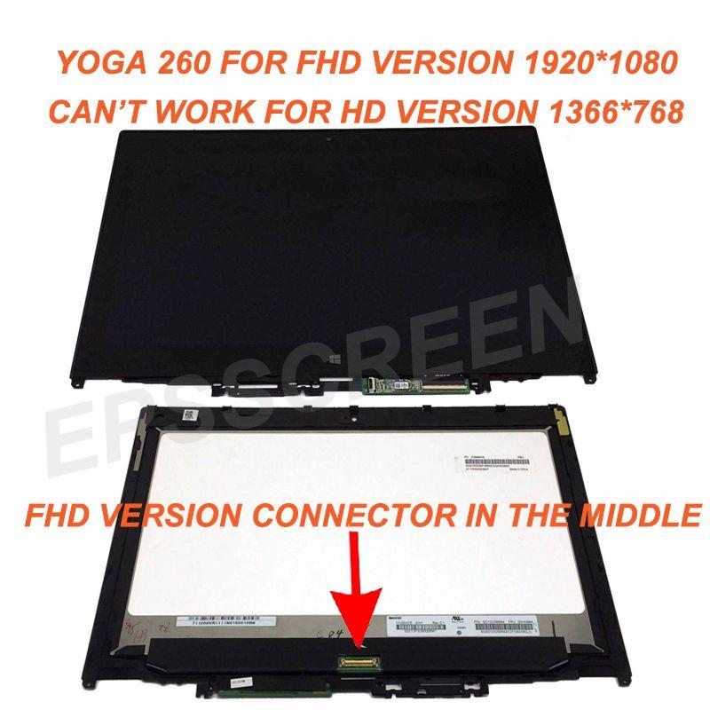 Für Lenovo Thinkpad Yoga 260 20FD0002US FHD Touch PANEL LCD Screen + Lünette 1920*1080 N125HCE GN1 FHD WITHCONTROL BORD