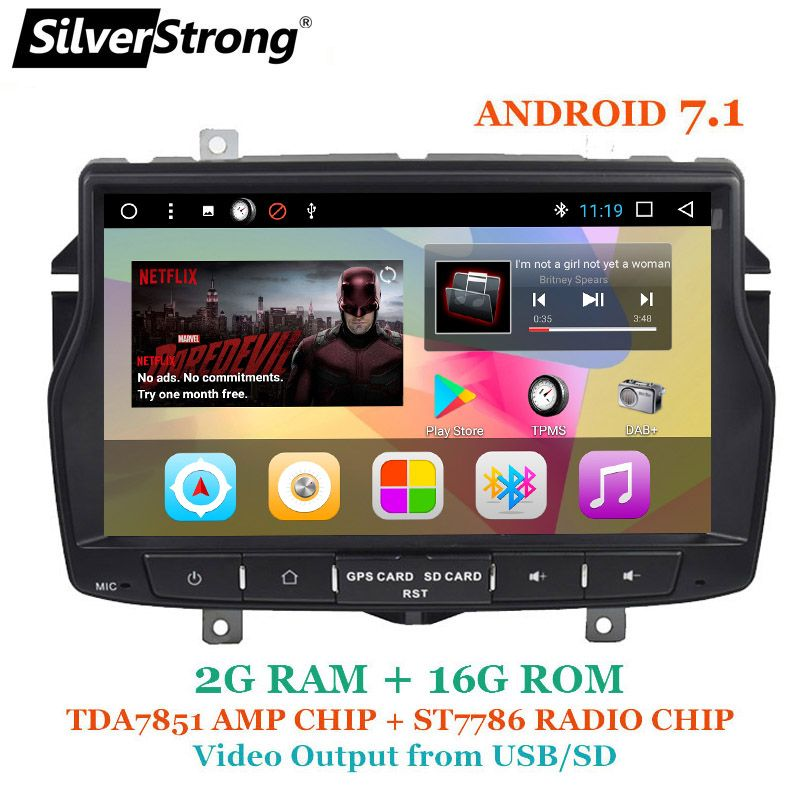 SilverStrong 8inch 1Din Android Radio Car DVD For LADA Vesta Russian language Navitel Android OS with Video Output Ability