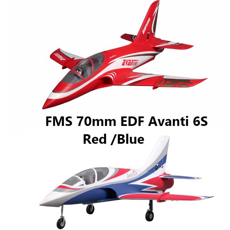 FMS 70mm Impeller Avanti Blau/Rot High Speed 6 S 6CH mit Klappen Fährt PNP RC Flugzeug jet Sport Modell Flugzeug Flugzeug Avion