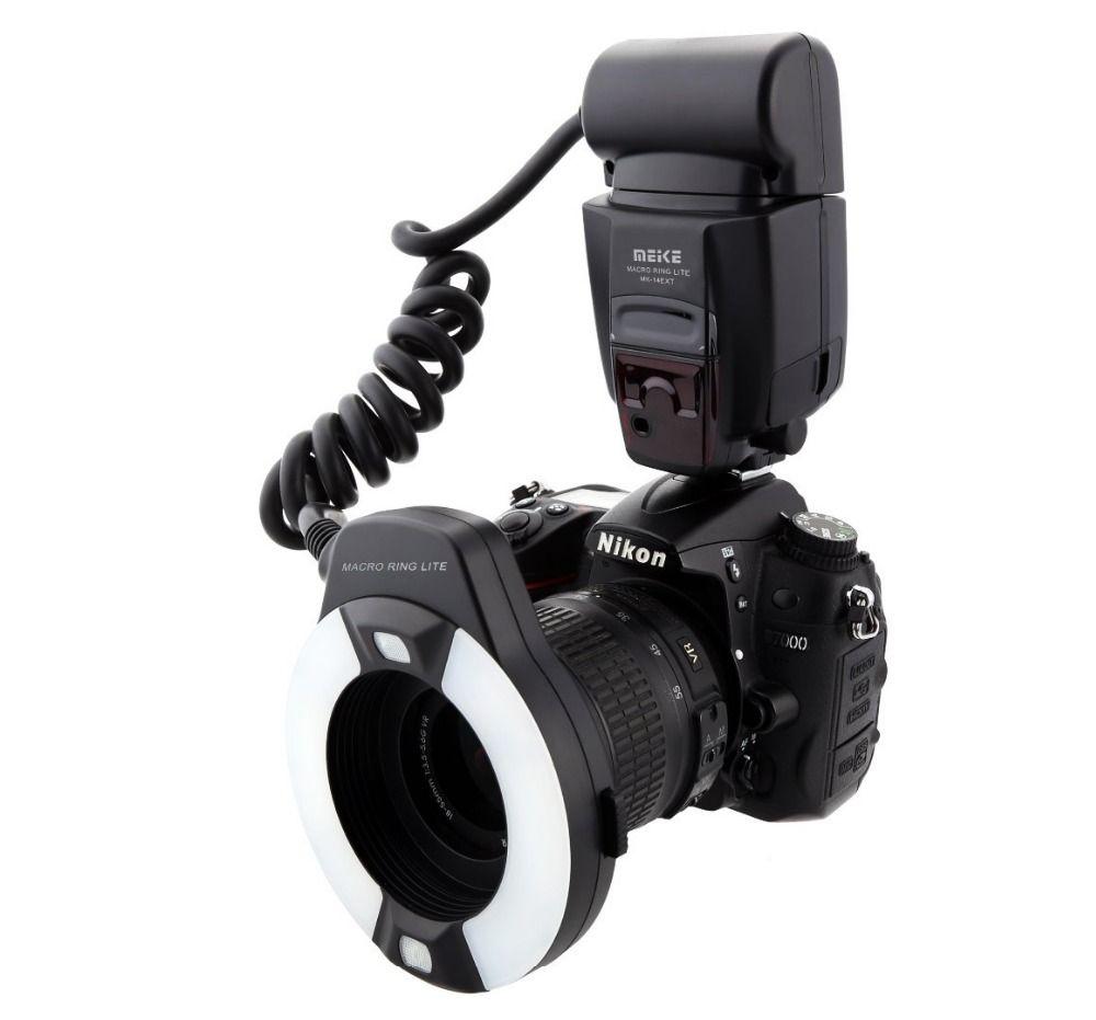 Meike MK-14EXTN Macro TTL anneau Flash pour Nikon i-ttl avec LED lampe d'assistance AF D7100 D7000 D5100 D5000 D750 D800 D600 D300s D90