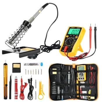 Multi-functional 60W Soldering Iron Kits Adjustable Temperature Welding Tool Advanced Digital Multimeter Mobile PC Repair Tools