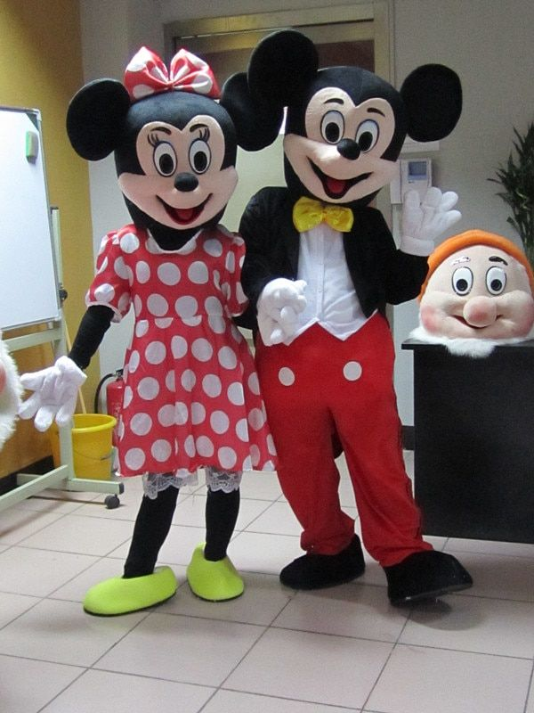 <font><b>2Pcs</b></font>/Hot sale Minnie Mouse Cartoon Mascot Costumes Adult size Costume for Halloween