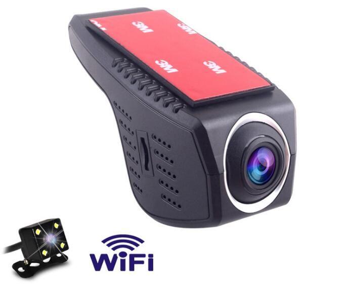 Null Drive Recorder Mobiltelefon Steuerung Wifi Versteckte Video Recorder Full HD 1080 P Auto-video-registrator Nachtsicht-doppelobjektiv Cam