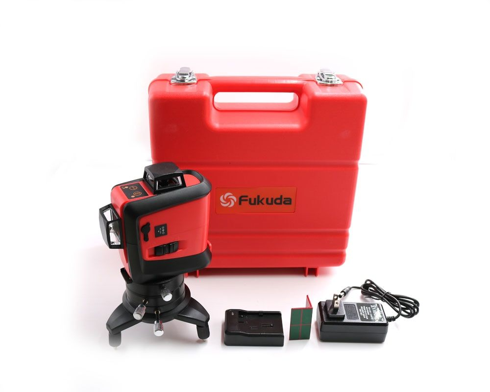 Fukuda12Lines Lion Battery 3D 93T Laser Level Self-Leveling 360 Horizontal And Vertical Cross Super Powerful Red Laser Beam Line