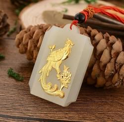 Free Shipping Hot Sales Unisex Jade Pendant Top Quality Bird Necklaces Jewelry