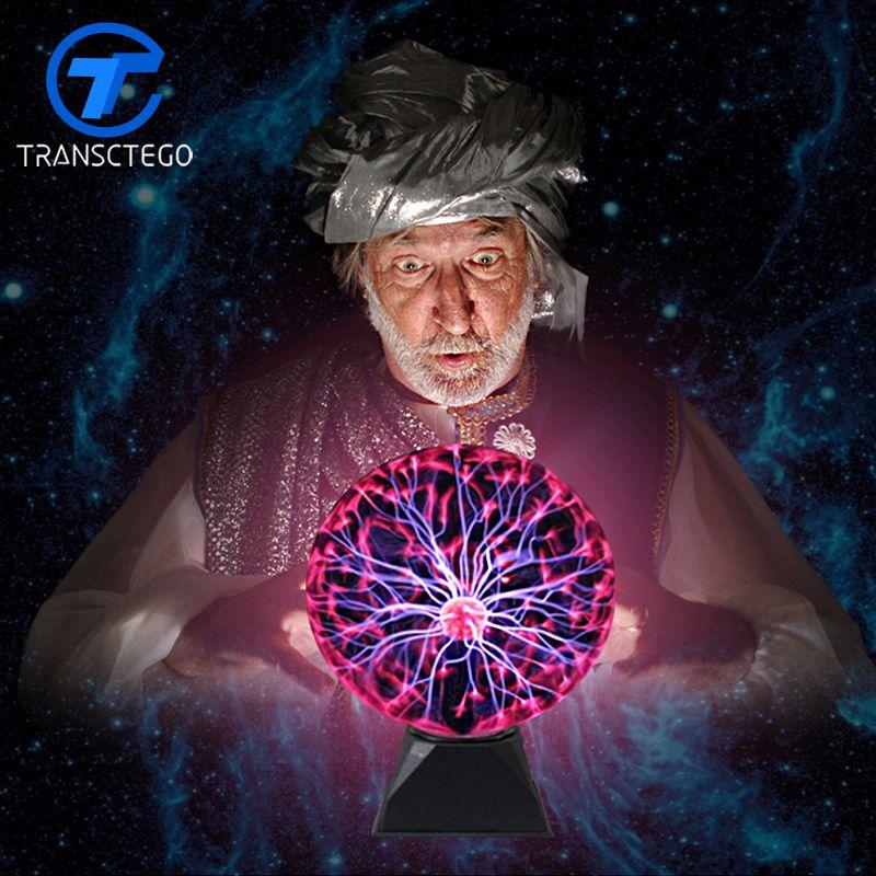 Boule de Plasma lumière magique cristal boule lampe Ion sphère foudre carnaval atmosphère lampes pour KTV purifier Air nouveauté veilleuses