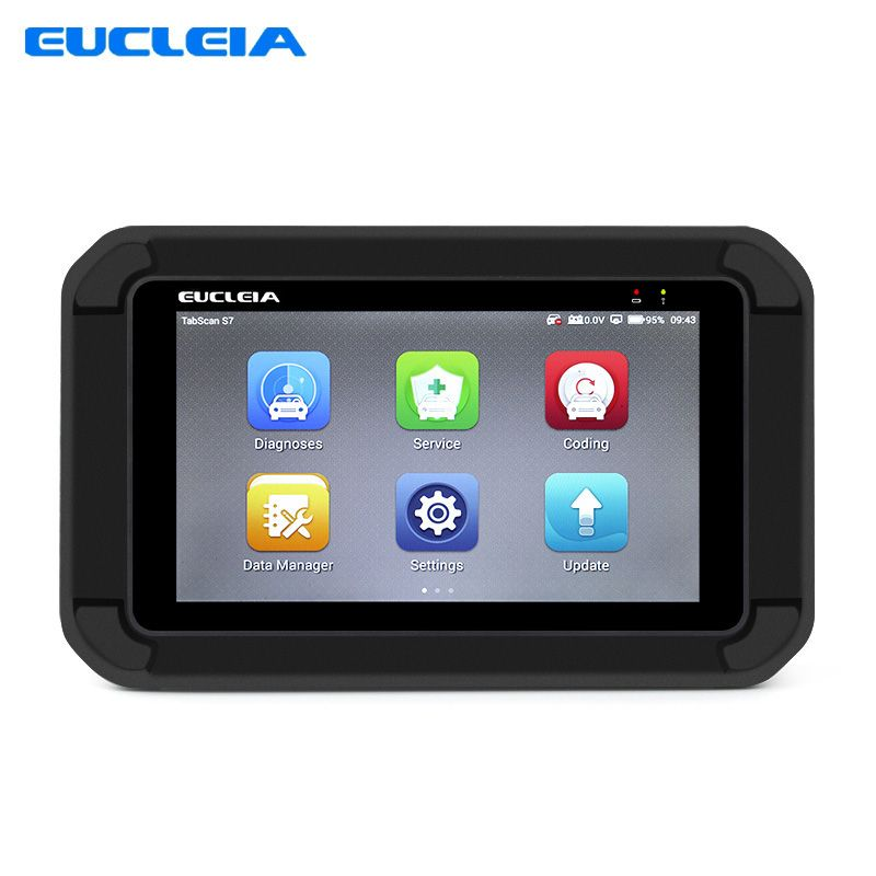 Automotive Scanner EUCLEIA S7 OBD2 Diagnostic Tool Auto Full System Scanner with ABS EPB CVT TPMS Oil Service Reset ABS Bleeding