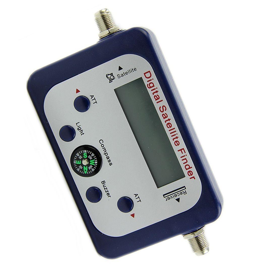 Scls LCD Digital buscador de satélites sáb buscador medidor de señal Sky dish freesat azul