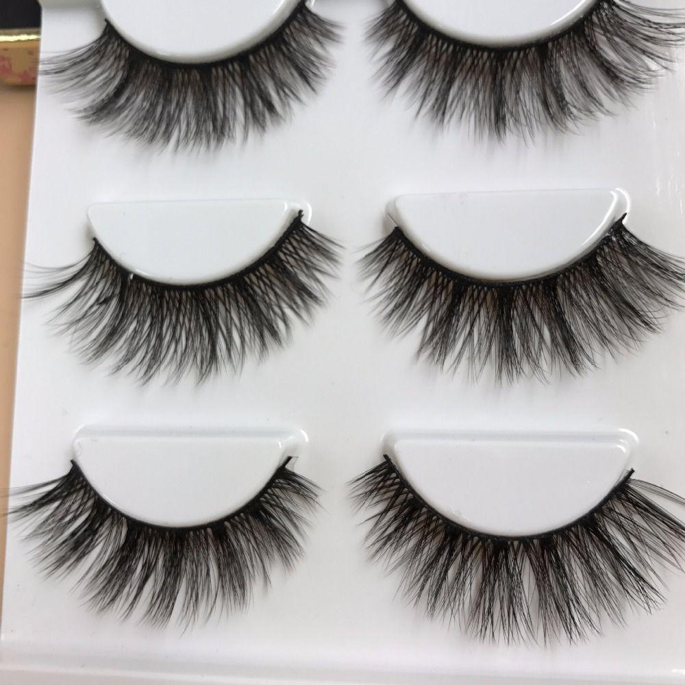 YOKPN 3D False Eyelashes Multi-layer Thick False Eyelashes Handmade Cotton Stems Fake Eyelashes Stage Smoked Makeup Lashes Tool