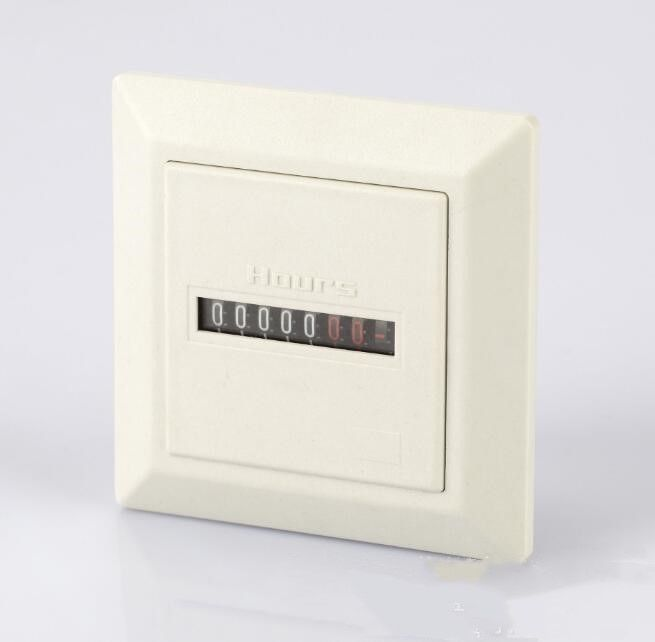 220v hour meter, non-reset square seal timer, counter hm-1 white
