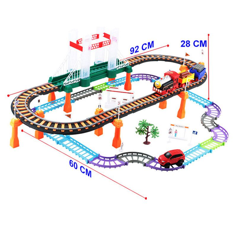 Two-layer Car Racing Magical Track Urban Express Electric City Highway Rail Track Race Driving Toys For Children Boys Girls