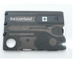 12 IN 1 Kreditkarte Werkzeug Messer Klinge Visitenkarte Messer Karte Kostenloser Versand Großhandel, Dropshipping