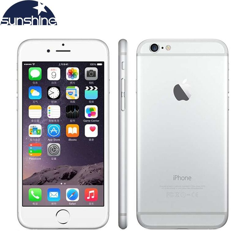 Unlocked Original Apple iPhone 6 Mobile Phone 4.7 8.0 MP Camera Dual Core 16/64/128GB ROM Cell Phones