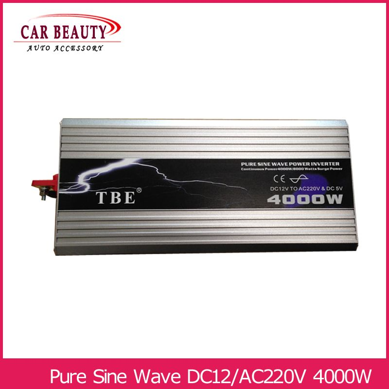 Power Inverter 4000 W Reine Sinus Welle Inverter DC 12 V zu AC 220 V Auto Converter Solar Power Inverter spitzenleistung 8000 W