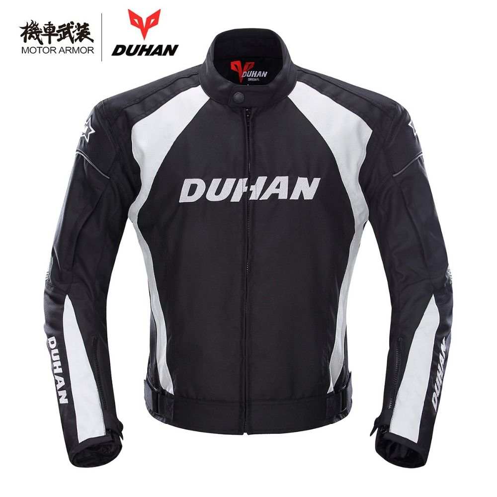Moto DUHAN Motorcycle Mens Riding Sport Oxford Jacket Clothing Motocross OffRoad Protection Coat Winter Summer CE Approved