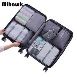 Mihawk 8 piezas bolsas de viaje impermeable fija embalaje Cube ropa portátil clasificación organizador equipaje accesorios suministros productos