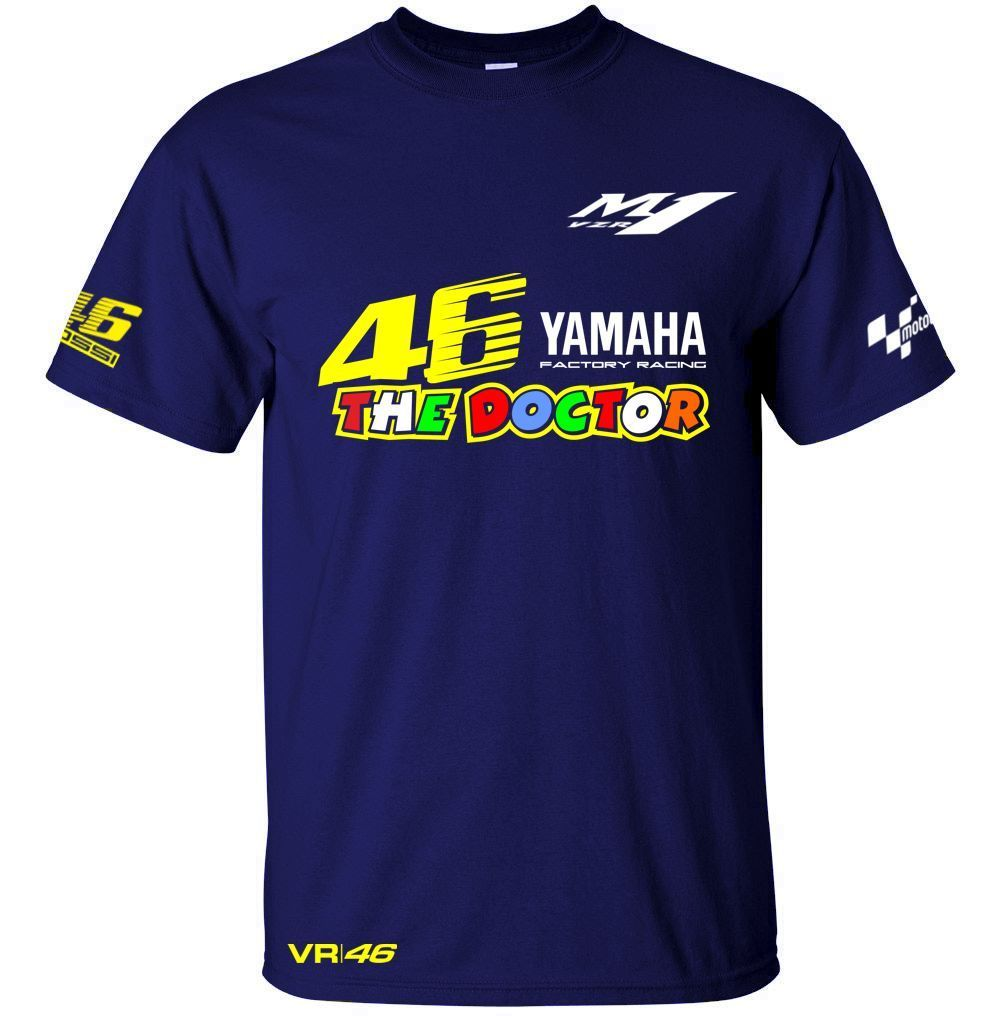 Free shipping 2017 New Valentino Rossi VR 46 Logo for Yamaha Moto GP The Doctor Men's Quick-drying T-Shirt racing jersey Tops
