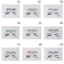 1 PC De Noël DIY Sourcil Visage Corps Art Adhésif Cristal Bijoux Brillants Festival Parti Oeil Autocollants De Tatouage Maquillage De Noël Décor