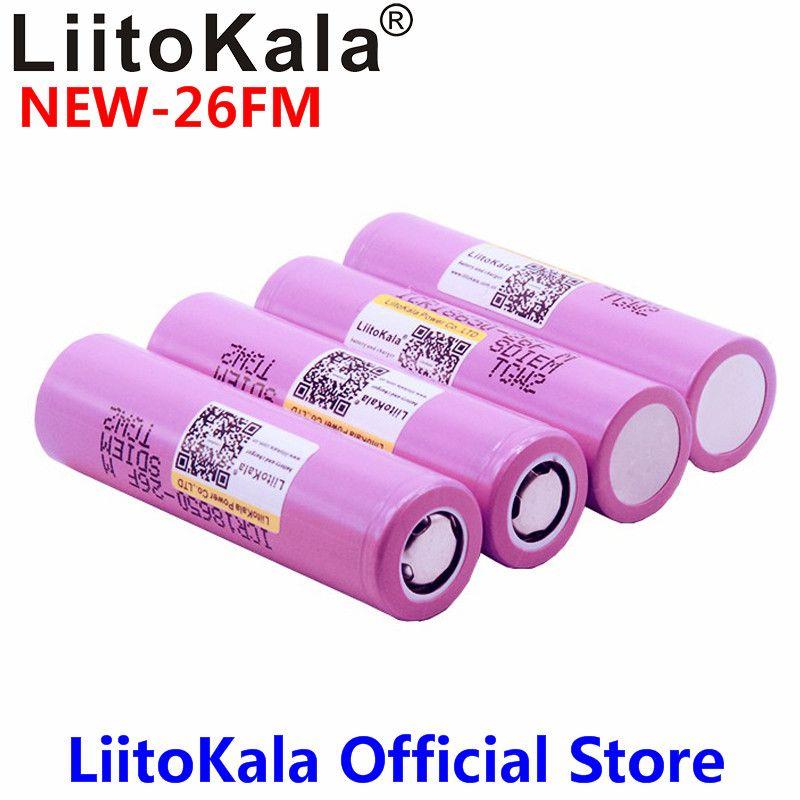 4 stücke 3,7 v 18650 2600 mah Original 18650 2600 mah akku ICR18650-2600FM sicher batterien Industriellen einsatz