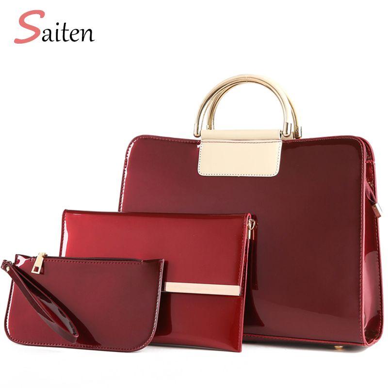 Luxury Handbags Women Bags Designer Ladies Leather Bag Women Messenger Bags Female Patent leather Composite Bag Bolsa Feminina
