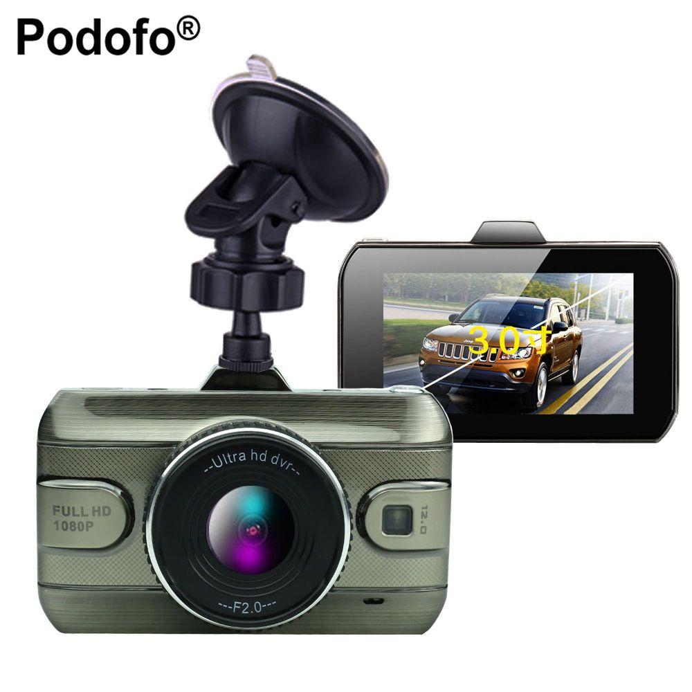 Podofo 2017 New 3 Inch Car Dvr Camera Full HD1080P Car Video Recorder Loop Recording Dash Cam Night Vision Car Camera DashCam