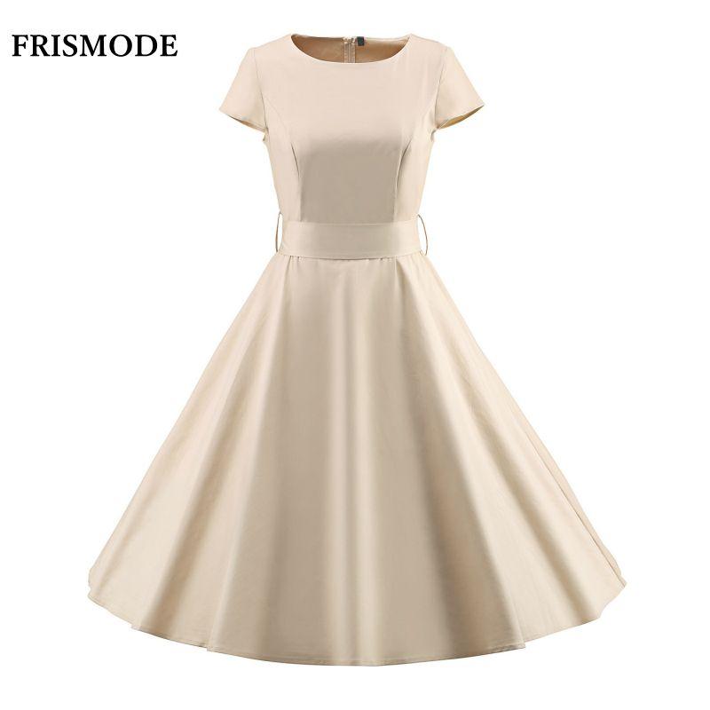 S-3XL Frauen Sommer Feste Midi Vintage Kleid mit Gürtel 2018 Neue Schaukel Retro Kleid Longuette frauen Rockabilly Kleid vestidos