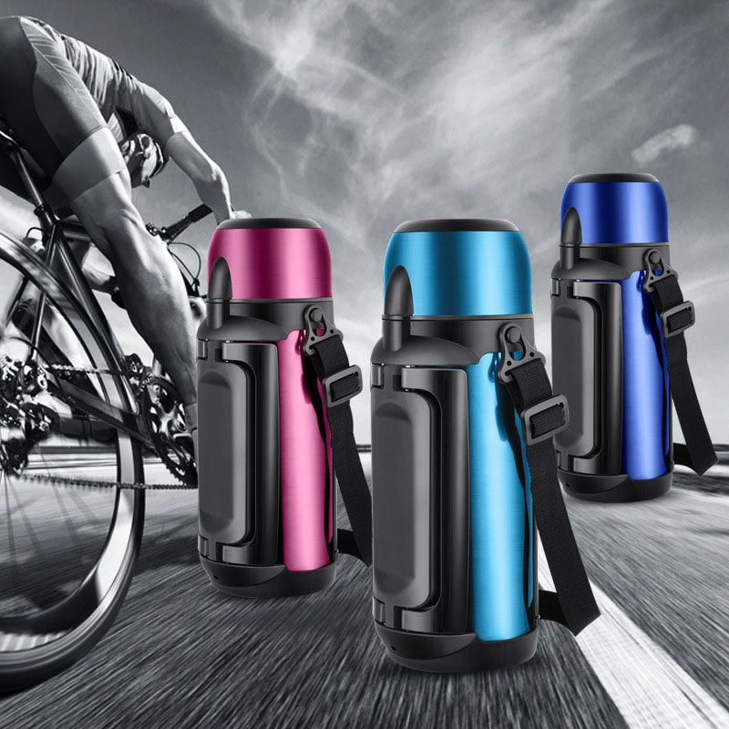 YiHAO 5 Color Stainless Steel Insulated Bottle 800ml Thermo Vacuum Flask Thermo Thermal Coffee Garrafa Termica Sport Thermo