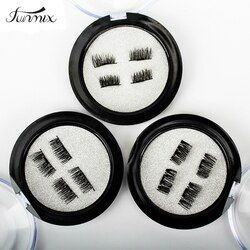 Professional 3D Double Magnetic Eyelashes Natural No Glue Reusable Fake False Eye Lashes Extension Handmade 4PCS