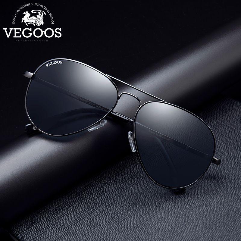 VEGOOS Designer marque Aviation lunettes de soleil polarisées pour hommes lunettes de soleil classiques conduite pilote lunettes de Sport en plein air #3025 S