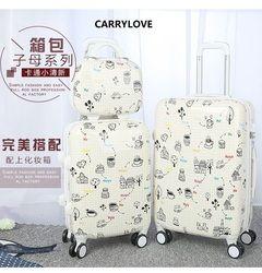 CARRYLOVE الأزياء الكرتون الأمتعة سلسلة 20/24 بوصة PC حقيبة يد المتداول الأمتعة العلامة التجارية حقيبة سفر
