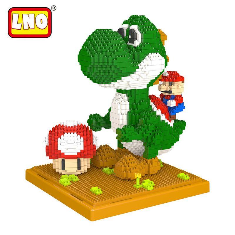 LNO figurines action & jouet grande taille bricolage Mario modèles nanoblock micro diamant blocs de construction minute brique jouet éducatif pour enfant.